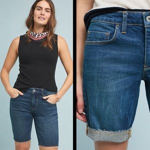 Anthropologie Pilcro raw hem Bermuda short size 25